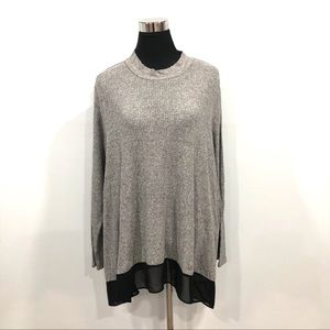 Style & Co light knit handkerchief top